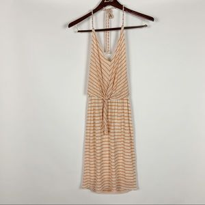 Ella Moss Mateo Striped Halter Dress New